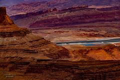 in the middle of the desert (mariola aga) Tags: utah moab deadhorsestatepark deadhorsepointoverlook shaferbasin cliffs rocks erosion desert ponds pools potassium evaporation landscape nature
