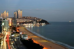 Dusk (kiwi photo lover) Tags: dusk republicofkorea rok southkorea busan haeundae beach longexposure