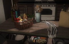 What's for Dinner? (Miru in SL) Tags: second life sl mesh decor furniture kitchen food home garden dust bunny crate liaison collaborative event