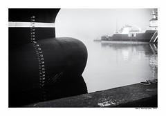 """""""Dans Les Traces Du Poulpe Ou Pour L'Attendrir Faut Taper Dessus... 23"""" (TBWLC Photography) Tags: fdrouet tbwlc nb bw monochrome boat ship bâteau port saintnazaire penhoët nikon d750"""