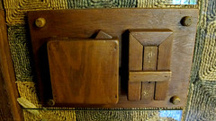Wooden Light Switch (Coyoty) Tags: gillettecastle gillettecastlestatepark williamgillette easthaddam connecticut ct park statepark attraction landmark history wooden wood light switch carved building architecture castle design theaterdesign theater theatre newengland brown gadget