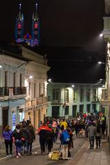 Quito night walk caminando en la noche (José X) Tags: quito ecuador historiccenter centrohistorico worldheritagesite patrimonioculturalmundial people gente street calle architecture arquitectura streetphotography
