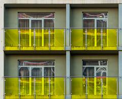 A virtual world (jefvandenhoute) Tags: belgium belgië antwerpen light wall windows reflections