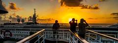 Leaving Barbados (Tony Shertila) Tags: nikon5300 columbus cruise harbour leavingport ship sunset tourist worldcruise 201901181846420