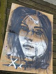 Catuxa (franck.sastre) Tags: art visage eyes black painting picture figura rostro
