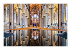 Salisbury Reflections (Rich Walker Photography) Tags: salisbury cathedral cathedrals church churches architecture reflection reflections historic history symmetry symmetrical canon england efs1585mmisusm eos eos80d wiltshire relgion