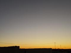 Sky (7 January 2020) (jolynne_martinez) Tags: googlepixel outside photoshop oilpainting oilpaintingfilter sky twilight sunset silhouette utilitylines blue orange black