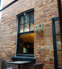 Bottles on the shelf  ** Explored ** (boeckli) Tags: devonport windows 021303 rx100m6 auckland newzealand windowwednesdays window fenster brickwork bricks mauerwerk bottles shelf outdoor outside wednesdaywalls