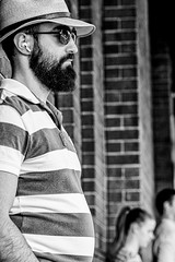 Stripes (Chris (a.k.a. MoiVous)) Tags: streetphotography adelaidecbd streetlife commuters