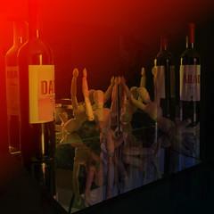 Dadesque dreams/ nightmares ~  HSS (Wendy:) Tags: shockofthenew dada bottles mirrors reflection layers photoshop manikin hss