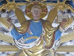 Christ in Majesty, St Mary's, Wellingborough (Aidan McRae Thomson) Tags: wellingborough church northamptonshire niniancomper screen sculpture