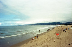 Santa Monica (Past Our Means) Tags: kodak kodakportra 400 portra portra400 kodakfilm travel santa monica ca california los angeles summer morning beach sky water sand ocean istillshootfilm film filmisnotdead filmphotography filmsnotdead analog analogue 35mm 28mm iconla canon ae1 canonae1