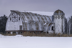 Far Away Look (henryhintermeister) Tags: barns minnesota oldbarns clouds farming countryliving country sunsets storms sunrises pastures nostalgia skies outdoors seasons fields hay silos dairybarns building architecture outdoor winter serene grass landscape plants cloudsstormssuns missioncreekmn