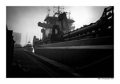"""""""Dans Les Traces Du Poulpe Ou Pour L'Attendrir Faut Taper Dessus... 24"""" (TBWLC Photography) Tags: fdrouet tbwlc nb bw monochrome ship boat bateau port saintnazaire penhoët nikon d750"""