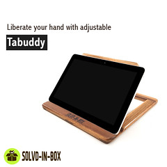 1Liberate your hand with adjustable 'tab stand' (solvdinbox) Tags: solvdinbox tab ipad ebook tablet tabletholder device onlineshopping onlinestore woodart worldwide wooden pinewood mumbai music ecommerce