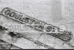 Goulston Street (Multiple Exposure) (goodfella2459) Tags: nikonf4 cinestillbwxx 35mm blackandwhite film analog london sign streetsign whitechapel eastend spitalfields goulstonstreet experimental abstract doubleexposure multipleexposure history crimehistory jacktheripper bwfp