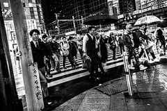 Shinjuku rush (Piotr_Lewandowski) Tags: shinjuku tokyo japan nippon asia street people commuter commuters salaryman salarymen blackandwhite blackwhite bw bnw mono monochrome urban city cityscape