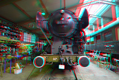 Restoration SSN 01 1075 3D (wim hoppenbrouwers) Tags: anaglyph stereo redcyan restoration ssn 011075 3d locomotive lokomotief loc train stoom overhaul