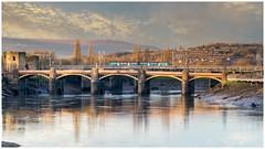 The humble unit (Mark Gowing) Tags: class150 newport dmu newportrailwaybridge riverusk winterlightovertheriverusk
