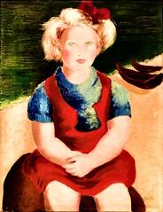 Untitled [The Girl at the Beach] (Undated) - Ofélia Marques (1902-1952) (pedrosimoes7) Tags: oféliamarques caloustegulbenkianfoundation moderncollection caloustegulbenkianmuseum lisbon portugal portrait portraitworld portraiture retrato ritratto ✩ecoledesbeauxarts✩