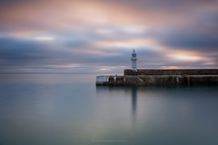Mevagissey Morn - E A S T   C O R N W A L L (Twogiantscoops) Tags: west harbour iplymouth fineart lighthouse seascape tide lee photoshop creative longexposure filters cornwall canon 5d3 sunrise hightide cableremote landscape leefoundationkit ocean wideangle beacon leefilters 5dmk3 mevagissey painterly littlestopper intervalometer manfrotto tidal pier 6stop lephotography chrismarshall'simages 2470mm twogiantscoops dawn creativity southwest