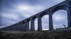 Infinity bridge (FireDevilPhoto) Tags: bridgemanmadestructure architecture history viaduct arch aqueduct europe old famousplace river outdoors sky stonematerial nature builtstructure blue nopeople monument ancient landscape yorkshiredales lancashireribblevalley ribblehead sony a9 laowa
