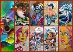France 2020 - Marseille - Le Panier (philippebeenne) Tags: marseille france tags graffitis streetart artderue panier bouchesdurhone 13 collage mosaic polyptyque