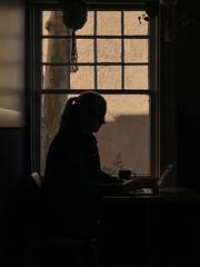 woman at the window (johngpt) Tags: silhouette window woman appleiphone7plus windowwednesdays hww tpfsilhouettes