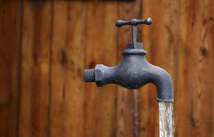 832-254177 (UN-PAGE) Tags: day daylight daytime during exterior exteriors faucet faucets flowing from jet jets nobody outdoor photo photos shot shots tap taps water