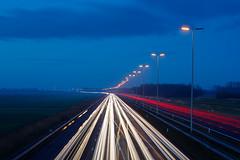 20191218-Canon EOS 6D Mark II-8077 (Bartek Rozanski) Tags: stompwijk zuidholland netherlands highway motorway a4 dutch nederland transportation traffic lights car night polder trail