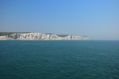 The Cliffs of Dover Seen From The English Channel - Kent (UK) (Last Border of the Picture) Tags: cliffs of dover kent england great britain united kingdom chalk rock earth sea english channel coast wavelet strait blue green white turquoise landscape seascape europe ue lighthouse cape horizon relief hill colline