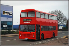 G801 TBD (Jason 87030) Tags: leyland olympian school work duty contract daventry northants amazon industrial red doubledecker hunters independant bus wheel weather gloom grim january 2020 all anything everything warehouse roadside