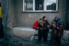 Bear chat (Max Sturgeon) Tags: comanesti romania blacksea street streetphotography travel travelphotography wintere bear parade