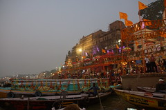 Varanasi on the Ganges (steve_whitmarsh) Tags: water river city urban building architecture india varanasi ganges topic abigfave