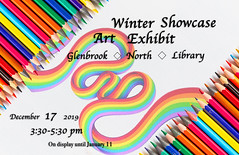 Winter Art Exhibit (dylan_rabin) Tags: concept arrangement blue bright colored colorful crayon diagonal draw drawing gradation green group multicolor orange paint palette pattern pencil pencils pink rainbow red rows school sharp stacking tool two variation vibrant wood wooden yellow