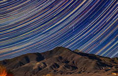 Star Trails at 50mm and Quadrantids (RS2Photography) Tags: dslr coasttocoastam coasttocoast stars star trail trails night t3i canon outside composite colours new flickr meteor january 50mm quadrantids california cali natur nature landscape 2020 sky skye owensvalley mountain blackmountain easternsierra rs2photography startrail starstax whitemountains inyo inyocounty smugmug fallingstars fallingstar meteorshower quadrantidsmeteorshower easternsierras naturephotography longexposure quadrantid quadrantidmeteor natural ufo uap pattern lines 50mm18stm art winter cold ross rs2 rossome awesome great usa america 320iso us168 westguard nighttimeistherighttime cool blue mrbluesky lightandshadows
