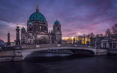 Berlin Cathedral (mcalma68) Tags: berlin cathedral dom d spree river germany ddr sunset cityscape architecture