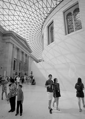 Contrasts (p2-r2) Tags: nikon f3 f3hp uk london british museum ceiling windows skylight nikkor20mmf28afd blackandwhite agfa apx 100 new emulsion film