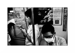 Tokyo - Underground (Punkrocker*) Tags: leica m7 summicron asph 35mm 352 film kodak trix pushed 1600 nb bwfp monochrome bnw street city people underground subway metro tokyo japan japon nihon nippon travel