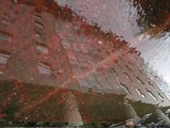 Degradation (andressolo) Tags: reflection reflections reflejos pond puddle water agua building buildings edificio edificios vigo suelo ground abstract city urban town