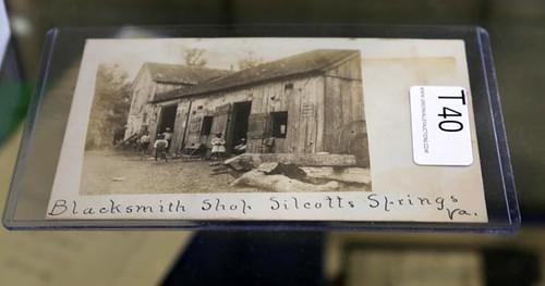 RPPC Blacksmith shop Silcotts Springs, VA Postcard ($112.00)