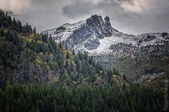 Mount Rainier National Park   Tatoosh Range Image nr. 1 (Nature1844 Photography) Tags: mountrainiernationalpark tatooshrange tatoosh mountains autumn snow landscapephotography trees crags landscape