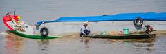 2019 - Vietnam-Avalon-Siem Reap - 8 - Mekong River to Cu Lao Gieng (January) Island (Ted's photos - Returns Early February) Tags: 2019 avalonwaterways cropped culaogieng mekongriver nikon nikond750 nikonfx tedmcgrath tedsphotos vietnam vignetting wideangle widescreen mekongriverboat riverboat sampan mekongriversampan riversampan boats 1people boatmotor bollard bollards ropes prow boatprow reflection waterreflection pail bucket omb ohmybuddha