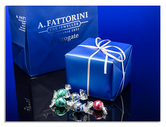 New Years fun with sweet?. (johnhjic) Tags: johnhjic studio flash watch fattorini sweets reflection blue gift present ribbon wrap wraped harrogate north yorkshire red green bow