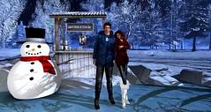 Winter Night stroll (lanclave) Tags: winterwonderland icepond relaxing takingabreak