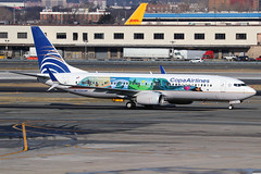 "HP-1730CMP | Boeing 737-8V3/W | Copa Airlines (special ""Visit Panama"" colours) (cv880m) Tags: newyork jfk kjfk kennedy johnfkennedy aviation airliner airline aircraft airplane jetliner airport spotting planespotting hp1730cmp boeing 737 738 737800 7378v3 winglet scimitar copa copaairlines panama visitpanama"