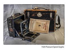 Postcard Speed (NoJuan) Tags: graflex graphic speedgraphic postcard tophandlespeed blackcamera vintagecamera cameraporn cameraportrait cameras