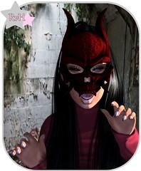 Groar!! (Owner of [B]odylicious-SL) Tags: groar mask evil female ava avi avatar cute sexy hot kawaii nails cranked blog bloggerin nkolour triggered ruby von hinten fashion sl secondlife