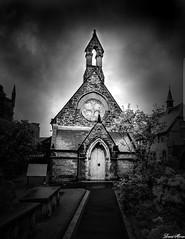 St Augustines,Derry,Ireland. (DaveMo2017) Tags: chapel church ireland derry blackandwhite clouds flower light holy irish path architecture building