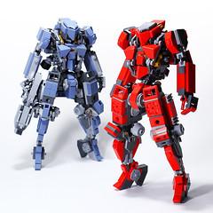 Sailia Red DVII7 (Devid VII) Tags: devid devidvii red sailia messymaru mecha mech moc military mobile suit lego wars space reframe mechwars